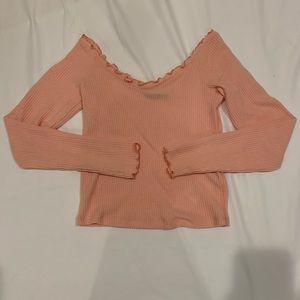 long sleeve v-neck thin sweater